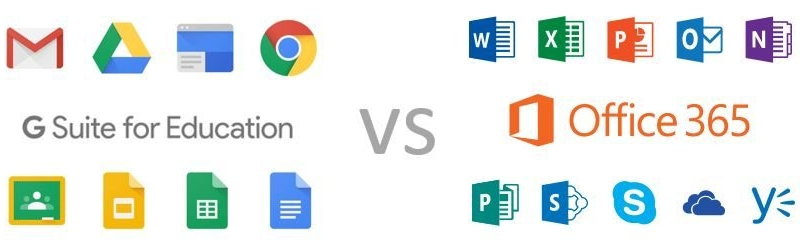 G Suite vs Microsoft Office 365 - Which to Use for Education?